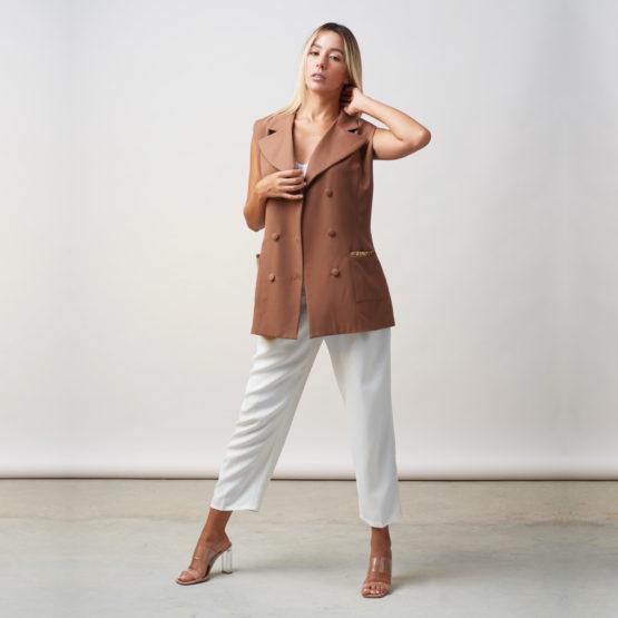 veste sans manches ajustée emna hussein